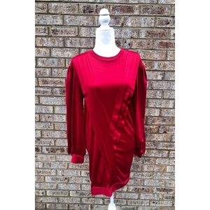 NWT Zara Trf Red Pleated Front Dress